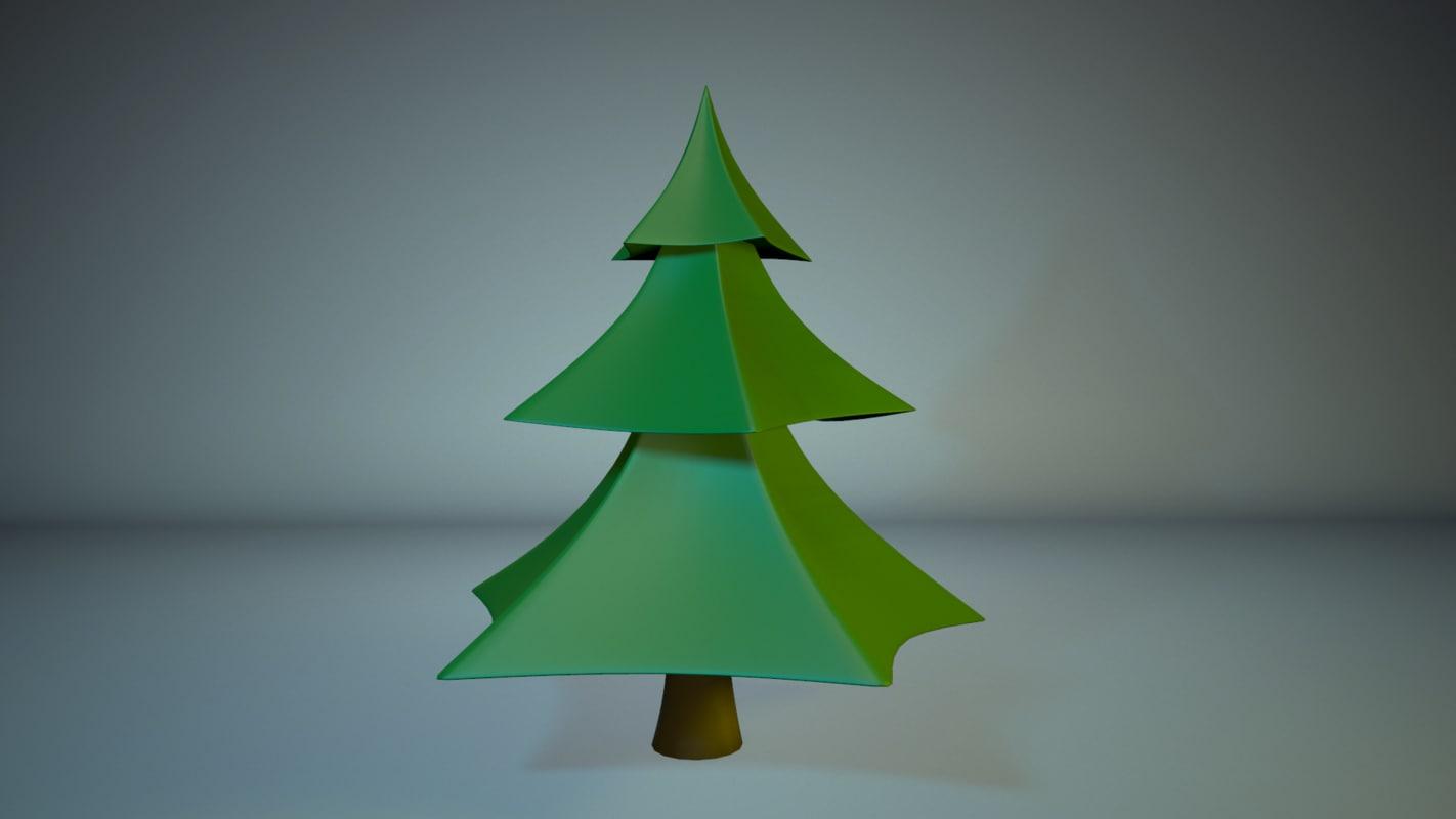 fir tree 3d max