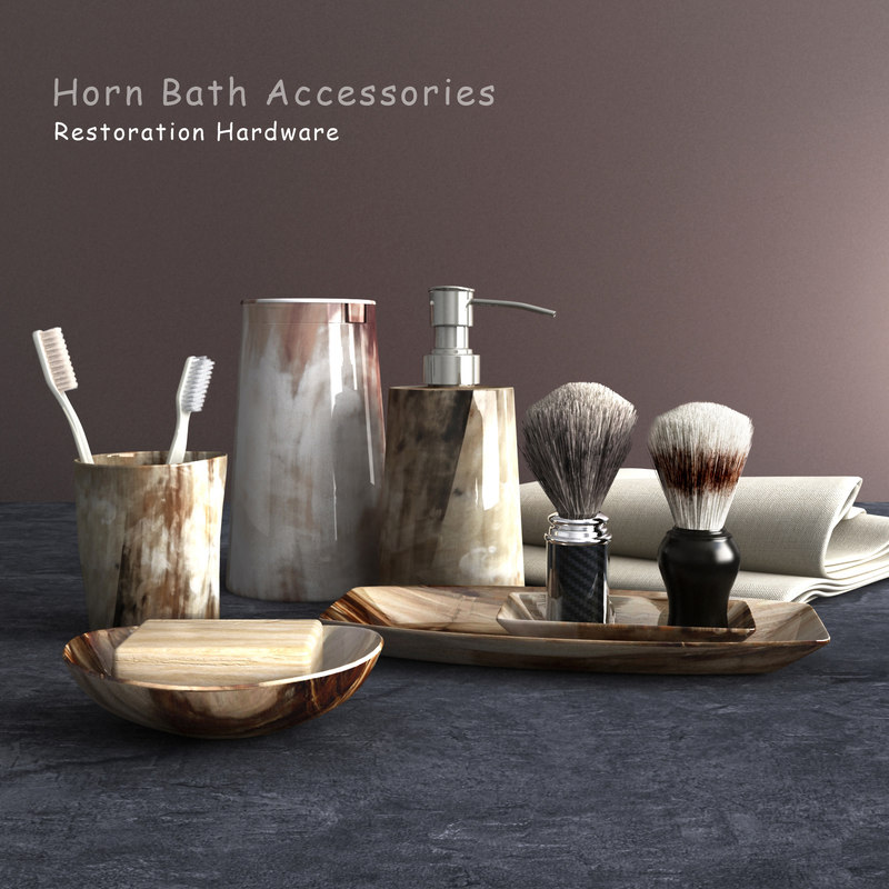 3d bathroom accessories