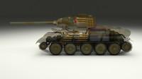 soviet t-34 85 tank 3d x