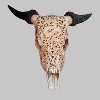 goat skull 3d dxf