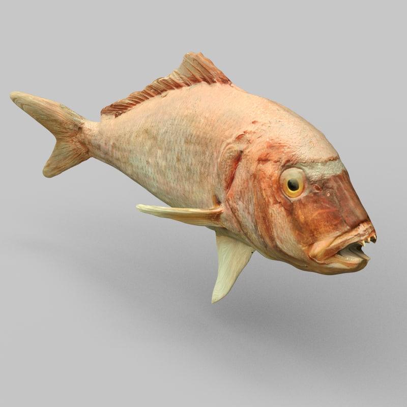 prehistoric fish 3d obj