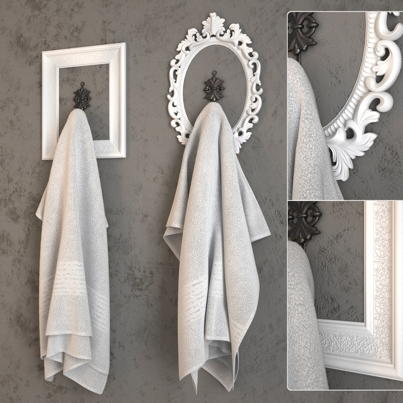 3d towel frame model
