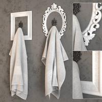 3d towel frame model