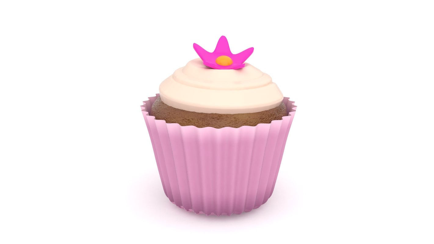 realistic cupcake v7 3d 3ds