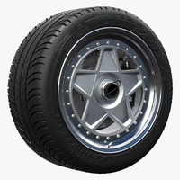 ferrari f40 wheel 3d model