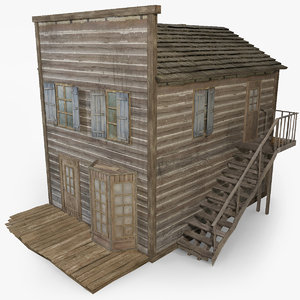 wild west house 3d 3ds