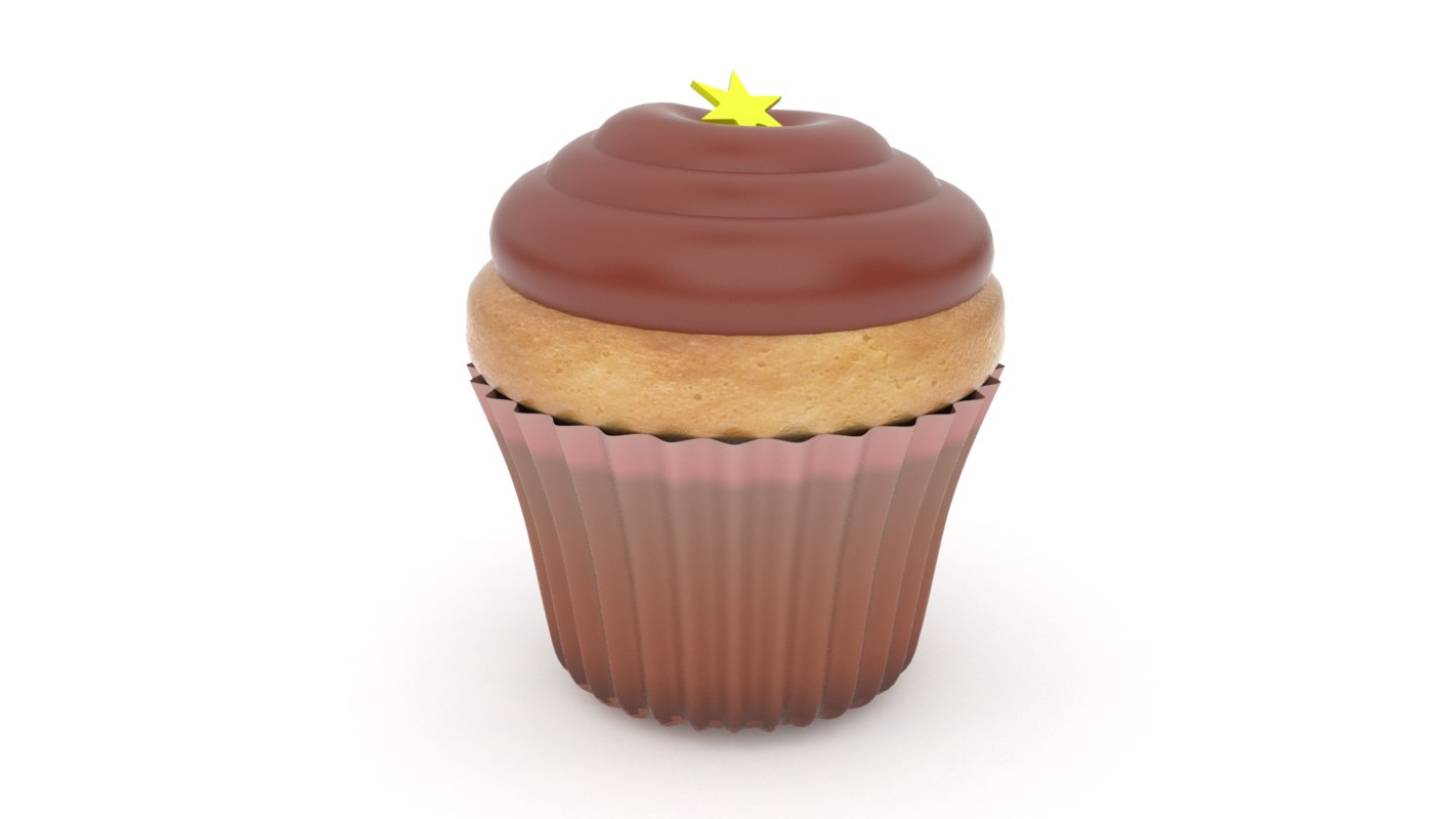 realistic cupcake v8 3d 3ds