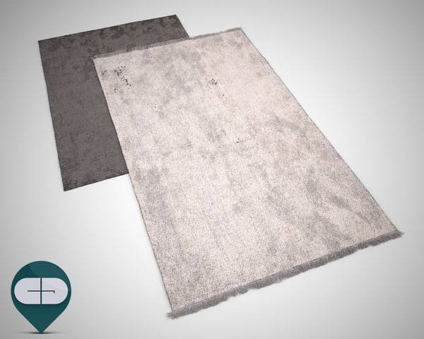 3d rugs carpet realistic model