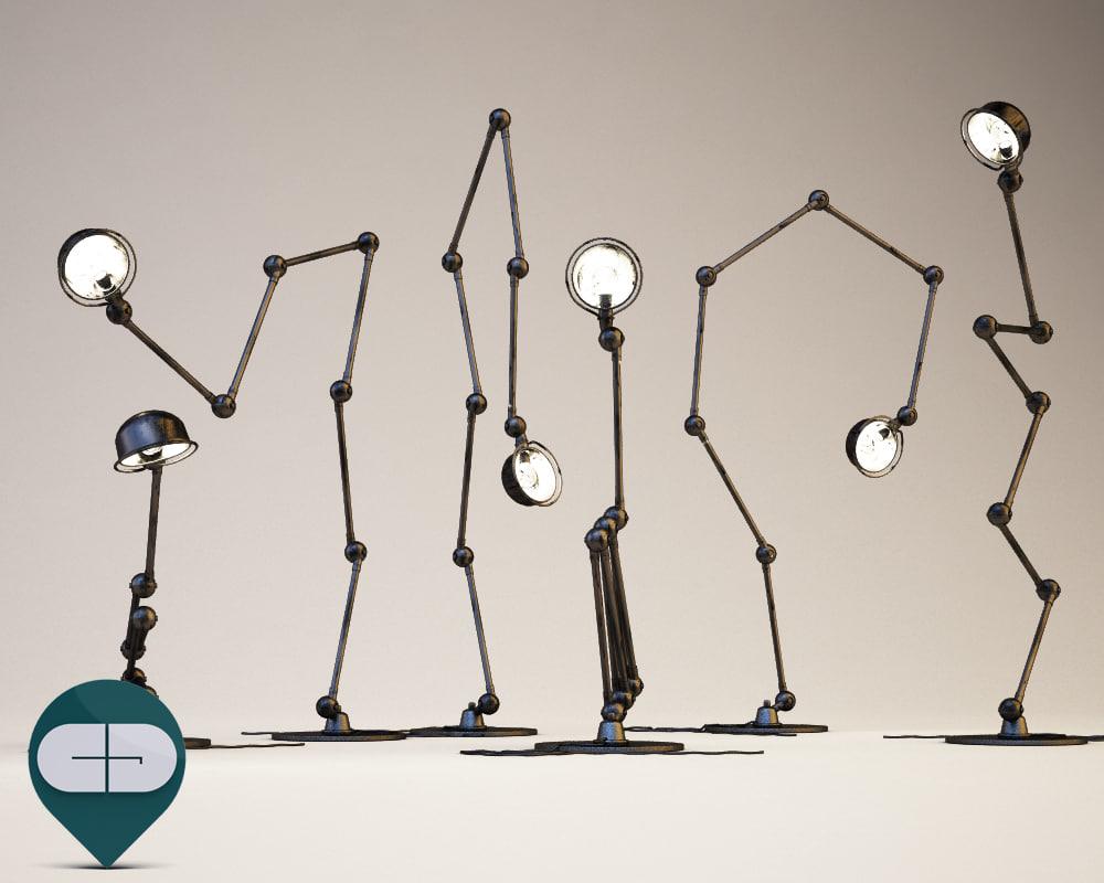 c4d industrial lamp