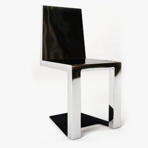 3d shadow chair steel