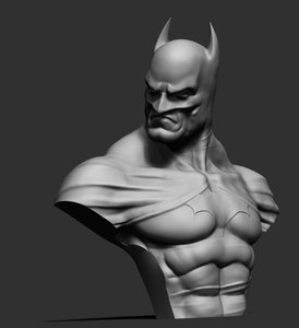 batman bust 3d model