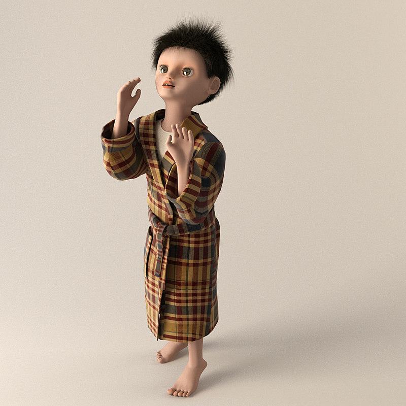 3d child boy