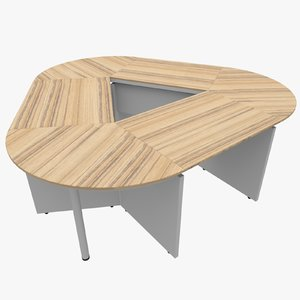 3d office table