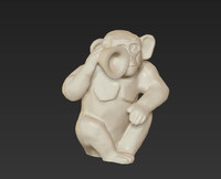 holiday monkey primate deaf 3d model