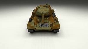 soviet t-34 85 tank 3d model