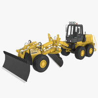tractor bulldozer machine 3d model