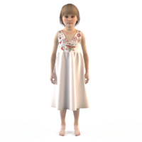 3d fashion child dressed model