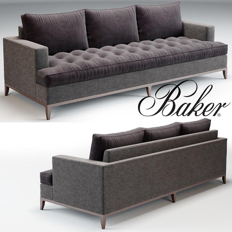 baker sofa bennet 3d max