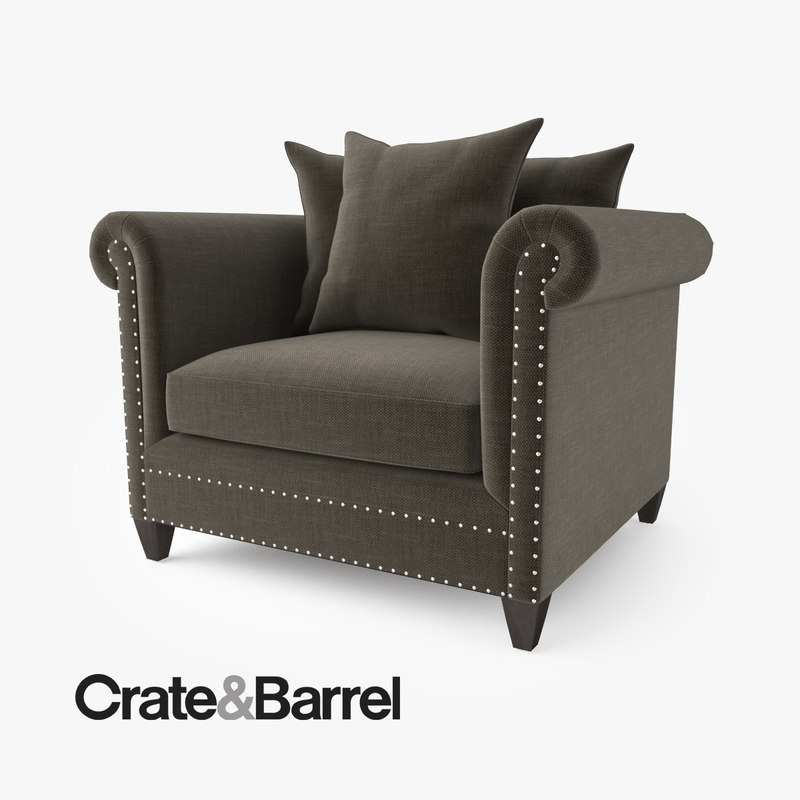 3d crate barrel durham chair