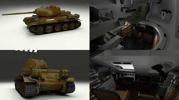 obj soviet tank interior t