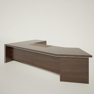 3d model of office table 01