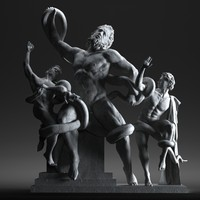 3d model of laocon sons statue