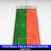 Football soccer stadium field low poly
