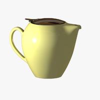 3d model modern teapot