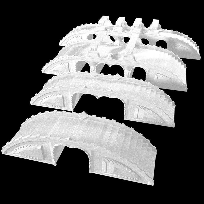 3d set bridges model
