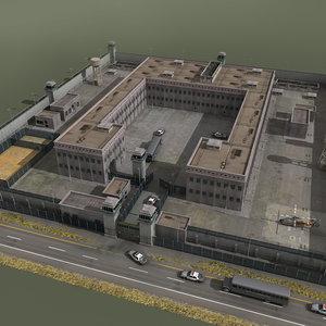 prison jail 3d model