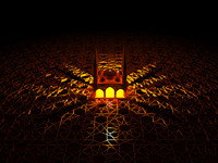 3d model mosque lighted islamic
