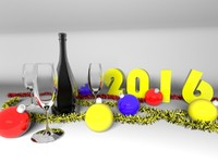 3d model new year
