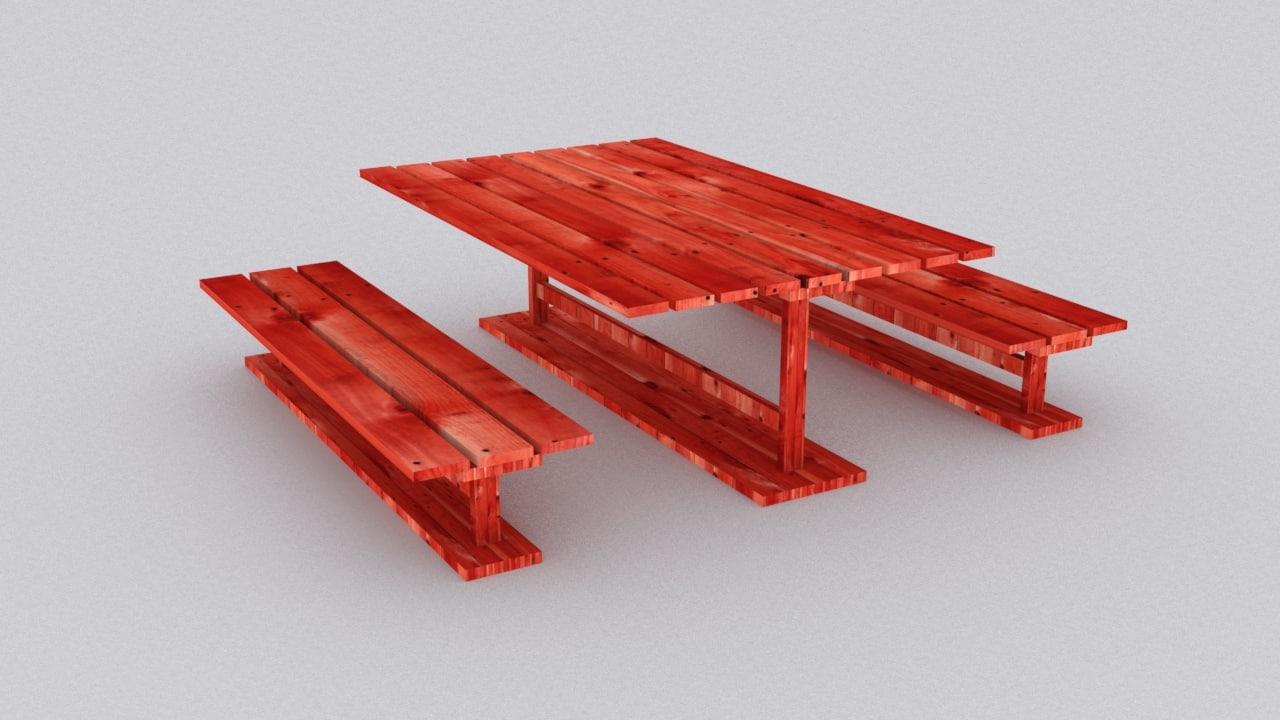 max picnic wood table