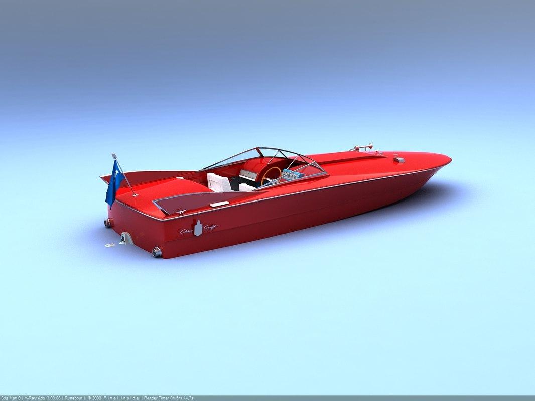 speedboat hot rod 3d max