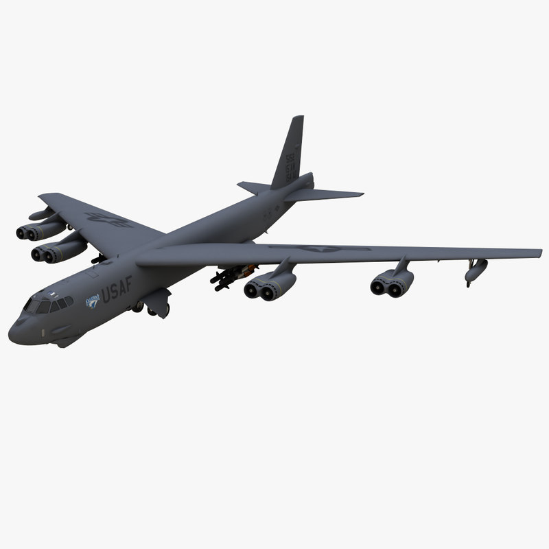 boeing b52 stratofortres 3d model