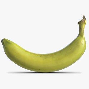 3d model banana green 3