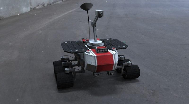 robot rover 3d max