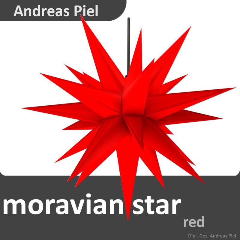 moravian star 3d c4d