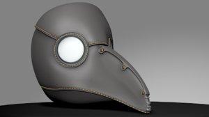 plague doctor mask obj