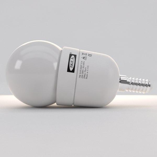 led spherical bulb lamp 3d model