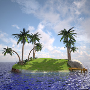 3ds max island