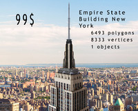 empire state new york 3d model