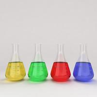 3d flask liquid