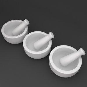 3d mortar pestle model