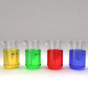 maya beaker liquid
