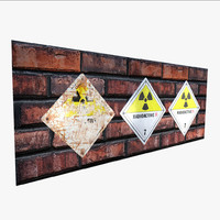 interior hazard sign - 3d model