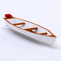 Cartoon low poly boat