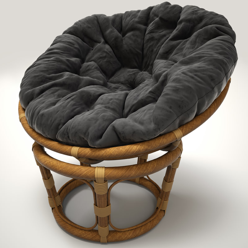 3d model rattan chair papasan
