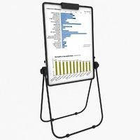 flip chart easel 3d model