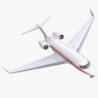 3d model of business jet gulfstream g650
